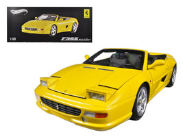 Ferrari F355 Spider Convertible Yellow Elite Edition 1/18 Diecast by Hot... - $109.95