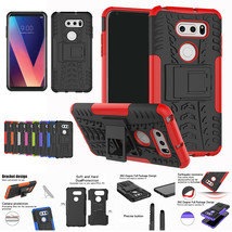 For LG K10 2018(a)/(plus)/X4(plus) Shockproof Heavy Duty Rubber Stand Case - $13.10