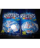 Razzles Gum 2-16 Mini Packs Bags Candy Then Gum - $4.40