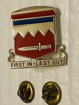 US Military 65th Engineer Battalion Insignia Pin - First In - Last Out - $10.00