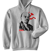 Vladimir Lenin Soviet Union 2 - New Cotton Grey Hoodie - All Sizes In Stock - $39.68