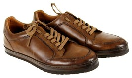 Mezlan Men's Frankfurt Sneakers Leather Trainers Lace Up  Brown 9 - $119.59