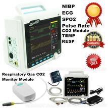 8 Inch Capnograph Patient Monitor ETCO2+6 Parameters CO2 Vital Signs Mon... - $592.02
