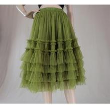 Pink Tiered Tulle Midi Skirt Pink Princess Tulle Tutu Midi Skirt Outfit Wedding  image 10