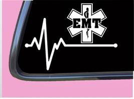 "EMT Lifeline TP 261 vinyl 8"" Decal Sticker first responder ambulance patch shirt - $3.99"