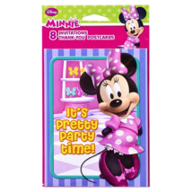 AMERICAN GREETINGS* 8 Sets DISNEY MINNIE MOUSE Invitations+Envelopes+Tha... - $2.96