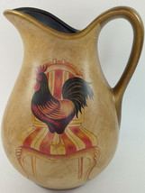 2 Quart Rooster Pitcher Golden Brown With Red Highlights ~ Plastic Used - $9.74