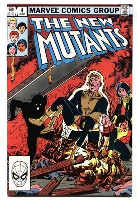 The New Mutants #4 comic book  1983- Marvel High Grade