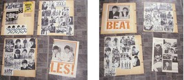 The Beatles Scrapbook Clippings Lot 1960s Beatles Gum Wrapper + More 1960s - $34.99