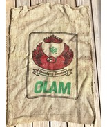 Olam Specialty of Sumatra Burlap Jute Coffee Bean Sack Bag Upcycle Craft... - $22.80