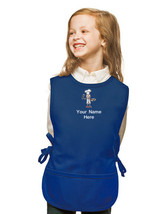 Personalized Kids Cobbler Apron Royal Blue Monogrammed for Boy & Girl Chefs - $24.99