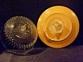 Ceramic Cake Plate and Crystal Cover Heavy AA19-LD11936 Vintage image 8