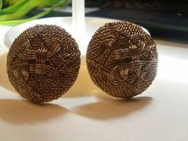 Vintage Jewelry: Basket Weave Clip On Earrings 04-01-2020 - $8.90