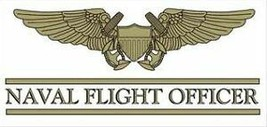 "6"" NAVY MILITARY NAVAL FLIGHT OFFICER STICKER CAR DECAL - $18.04"