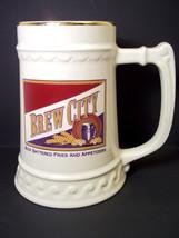Ceramic beer stein tankard BREW CITY - $11.41