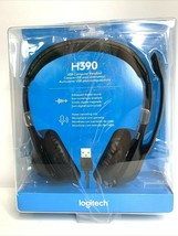 Logitech H390 USB Headset with Noise-Canceling Microphone Black New - $32.47