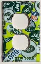 NY New York Jets Light Switch Power Outlet Duplex wall Cover Plate Home Decor image 2