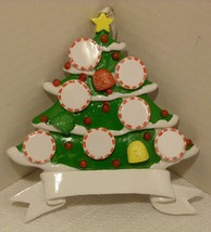Large Christmas Tree Personalizable Ornament - Personalized By Santa NOS - $12.98