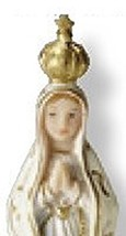 OUR LADY OF FATIMA STATUE - 4.0 INCH  image 2
