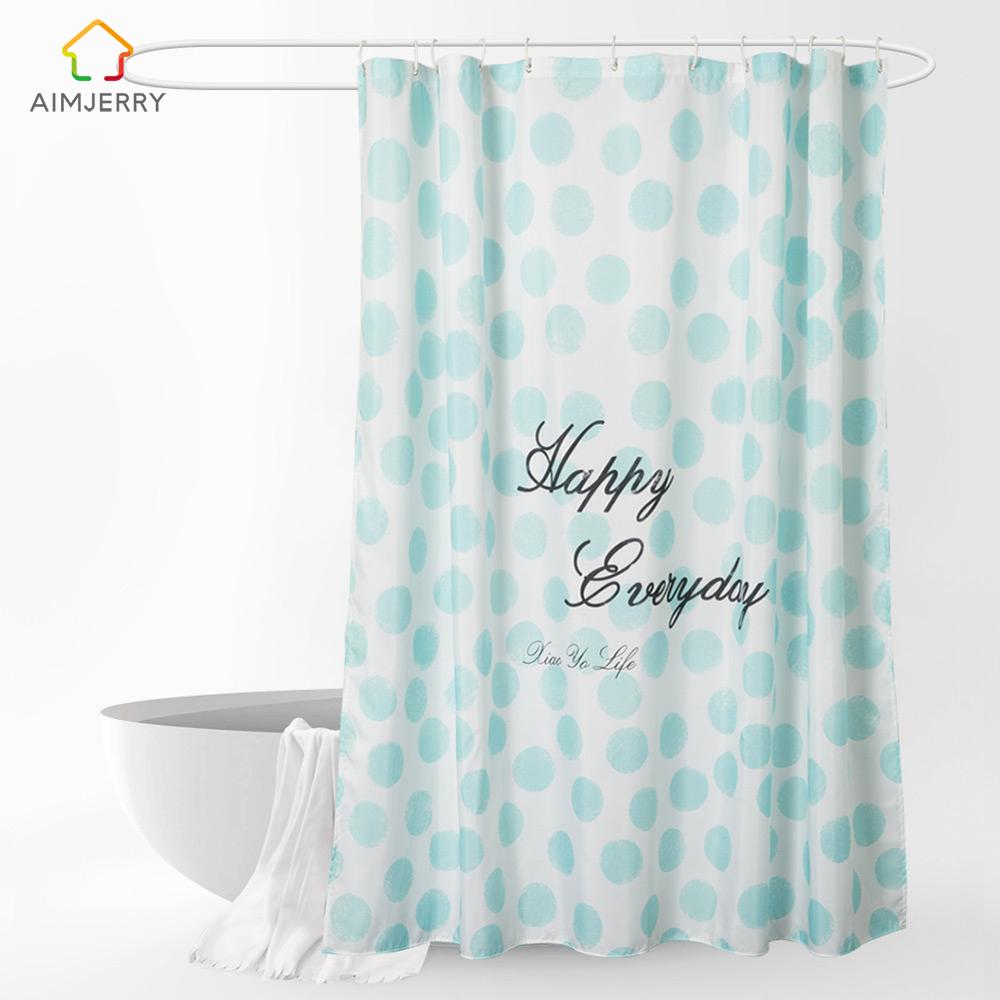 Aimjerry Custom Shower Curtain Polyester Waterproof Mildewproof Modern bathtub B