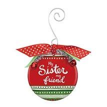 Demdaco Sister Patterned Ceramic Ornament 3.5 Inches Diameter Decorative... - $17.33