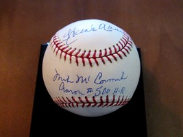 Hank Aaron Mike Mccormick 500TH Hr Braves Hof Signed Auto Baseball Steiner Mlb - $494.99