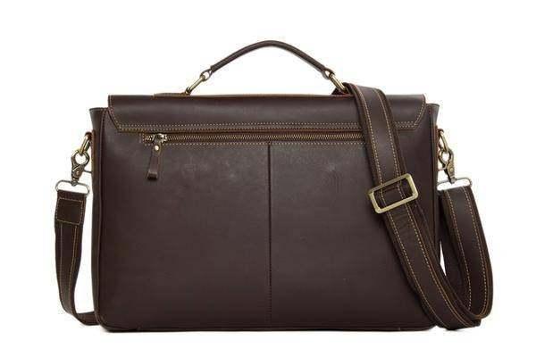 Sale, Vintage Leather Messenger Bag, Men's Leather Briefcase image 3