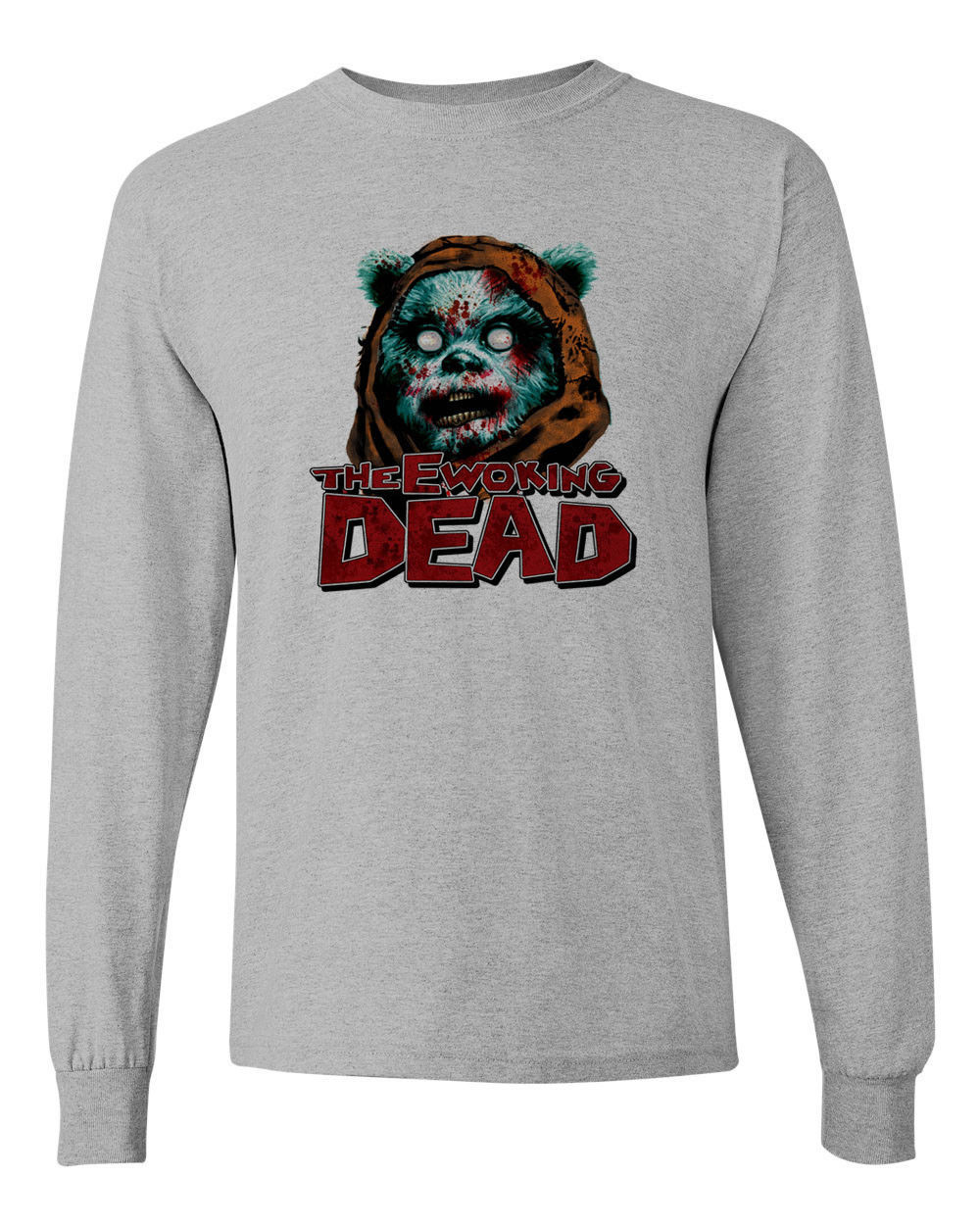 Ewoking Dead t shirt star wars The Walking Dead horror sci fi long sleeve tee