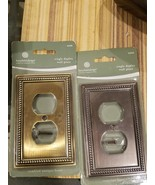 BETSY FIELDS  WALL PLATE new  two antique brass ventian bronze - $12.86