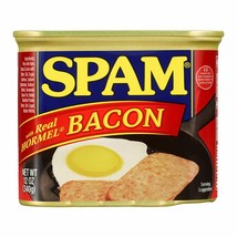 SPAM BACON LOT Of TWO, TOTAL 24 OZ EMERGENCY BACKUP FOOD EASY PULL TAB O... - $19.79