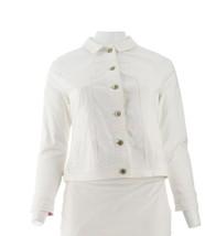 Isaac Mizrahi True Denim Farbig Jeansjacke Strahlend Weiß 16 Neu A303210 - $62.35