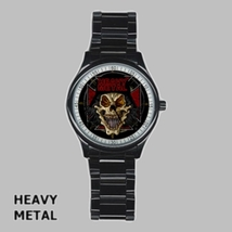 Stainless Steel Round Metal Watch Highest Quality Heavy Metal - $27.49