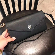 Tory Burch Robinson Expandabale Conceirge Wallet Bag Black - $320.00