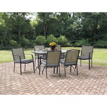 Set Of 6 Patio Dining Chairs Cushions Garden Bistro Outdoor Furniture Ba... - $316.79