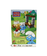 BAKER SMURF | Mushroom Village Bakery | Set 10702 | NEW SEALED | MEGA BL... - $19.75