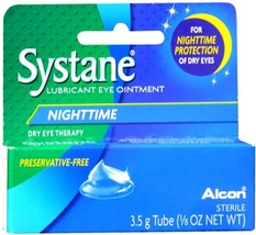 Alcon systane Nighttime Lubricant Eye Ointment Overnight Relief, 0.125 f... - $18.69