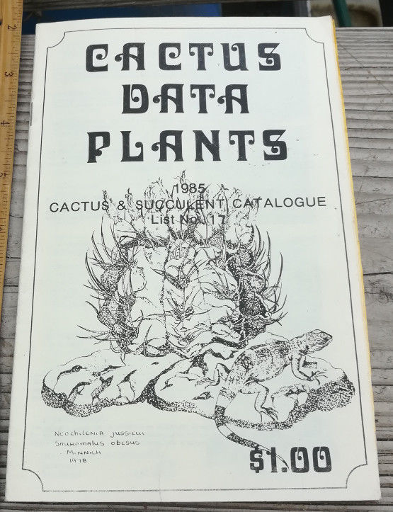 Cactus Data Plants Cactus and Succulent Catalogue Art Cover by Woody Minnick