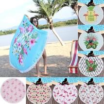 New Beach Towel Round Microfiber With Tassel Fashion Picnic Blanket Beac... - $21.98
