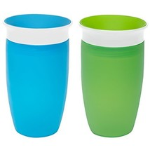 Munchkin Miracle 360 Sippy Cup, Green/Blue, 10 Ounce, 2 Count - $15.91