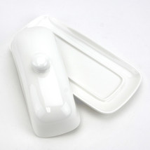 Butter Dish Ceramic, French Cute White Covered Butter Dish - €14,82 EUR