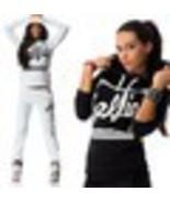 Juniors White Fleece SELFIE Sweatpants & Top Set Outfit Size Large , New - $24.99