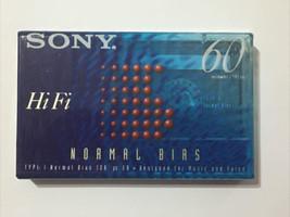 SONY Hi Fi 60 Minute Blank Cassette Tape C-60HFB Normal Bias New Sealed - $5.95