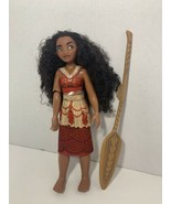 """Disney Store Feature Doll Moana singing posable 11"""" figure How Far I'll ... - $19.79"""