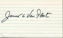 James van Fleet signed card. WWII military commander/General. - $36.95