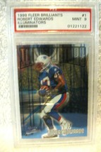 Robert Edwards RC 1998 Fleer Brilliants ROOKIE#1 MINT PSA 9-Patriots RB RC - $29.69
