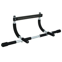 Gym Iron Total Upper Body Workout Bar New Up Chin Push Ab Straps Box Sport - $85.39