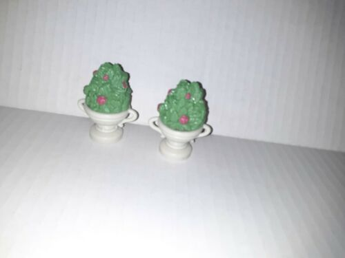 Primary image for 2 Fisher Price Loving Family Dollhouse Flower Bush Pot Plants small