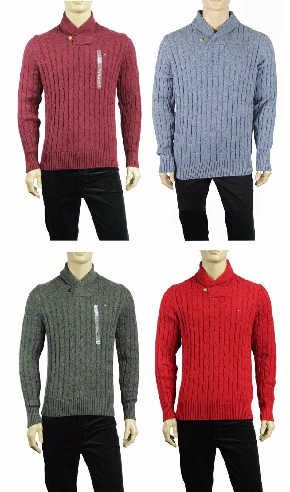 BANANA REPUBLIC Men/'s Navy Striped Shawl Collar 1//2 Button Sweatshirt Large NWT