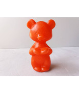 Red plastic Bear toy Vintage plastic toy Soviet bear toy Plastic Olympic... - $13.00
