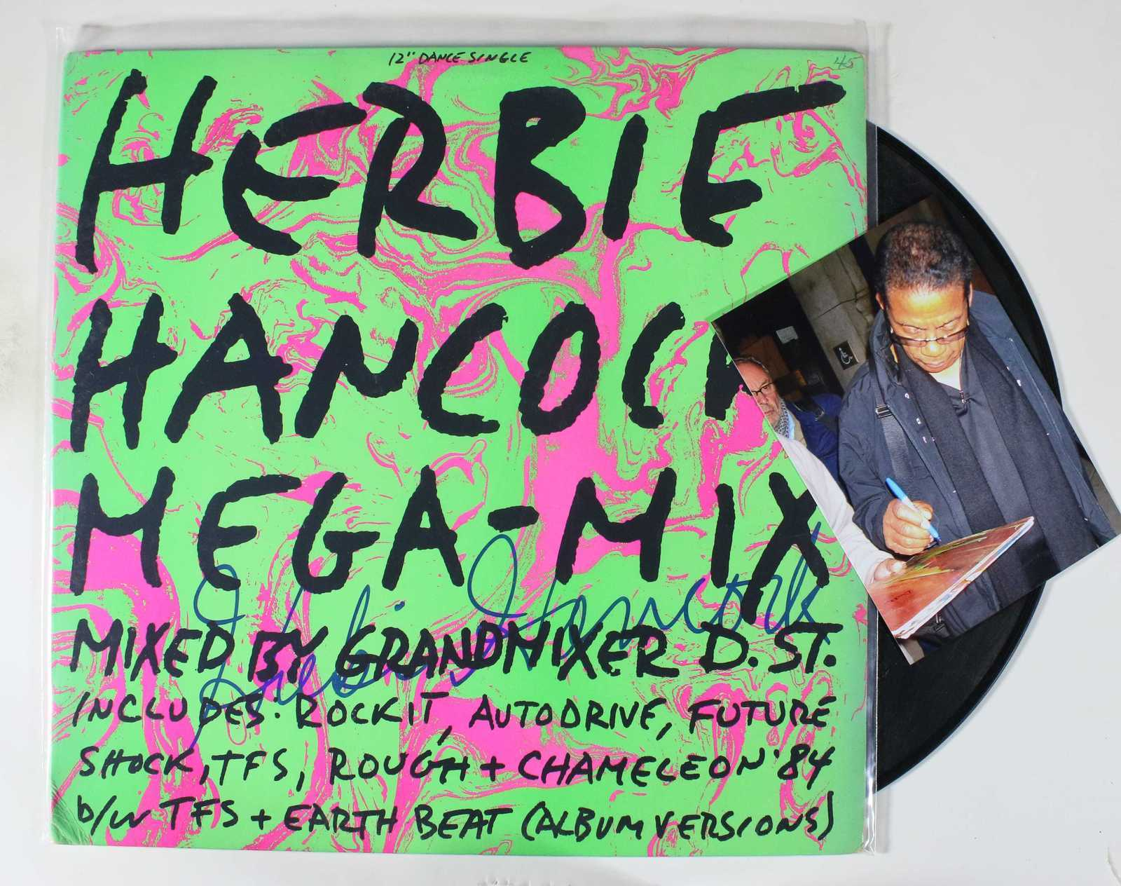 Primary image for Herbie Hancock Signed Autographed Record Album w/ Proof Photo